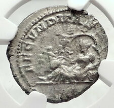 JULIA DOMNA Authentic Ancient Silver Roman Coin TERRA & FOUR SEASONS NGC i73293