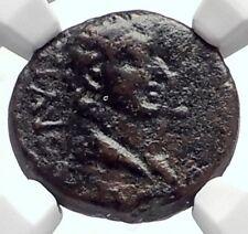TIBERIUS & son DRUSUS Philippi Macedonia FOUNDATION w Oxen Roman Coin NGC i72065