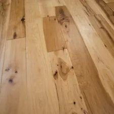 Hickory Wood Flooring, Natural, Prefinished Solid, 5