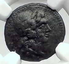 KATANE in SICILY Authentic Ancient 339BC Greek Coin APOLLO APHRODITE NGC i77354
