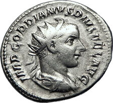 GORDIAN III 240AD Genuine  Authentic  Ancient Silver Roman Coin SOL SUN i70077