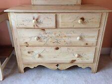 Ethan Allen Hand Painted Complete Cottage Bedroom Set 7 Pieces Gorgeous