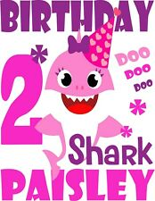 Baby Shark Birthday Shirt Ebay