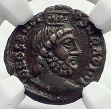 Ancient ROMAN Pagan FESTIVAL OF ISIS ? Ancient Coin w SERAPIS & NILE NGC i77381