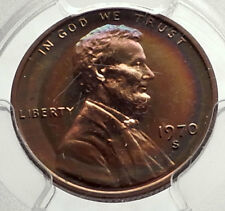 1970 US Abraham Lincoln Memorial PROOF Penny 1 Cent Coin PCGS Certified i70592
