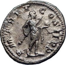 GORDIAN III w spear & globe 240AD Authentic Silver Ancient Roman Coin  i73264