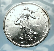 1964 FRANCE French LARGE Silver 5 Francs Coin w La Semeuse SOWER WOMAN i68205