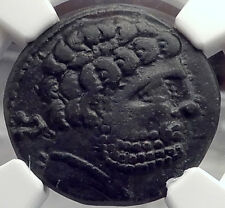 BELIKIO in IBERIA Spain 100BC Man Horse Authentic Ancient Greek Coin NGC i58694
