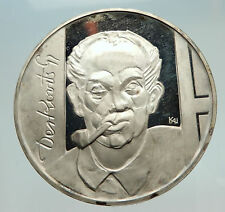 1976 HUNGARY Painter GUYLA DERKOVITS Antique Silver Proof 200 Forint Coin i74725