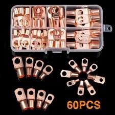 60Pcs Electrical Copper Lug Cable Wire Connectors Crimp Terminal SC6-25 Set Kit