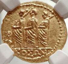 Brutus Julius Caesar Roman Assassin 44BC Ancient Greek GOLD Coin NGC MS i66667