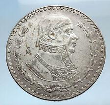 1960 Mexican Independence War HERO Jose Maria Morelos Peso Coin of Mexico i74270