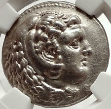 ALEXANDER III the GREAT Ancient 324BC Silver Tetradrachm Greek Coin NGC i66684