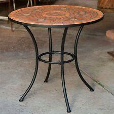 mesas redondas de metal para patio