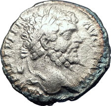 SEPTIMIUS SEVERUS 198AD Authentic Ancient Silver Roman Coin PAX Peace i73578