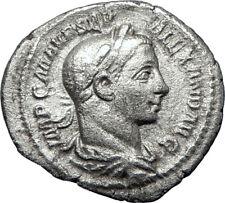 SEVERUS ALEXANDER 225AD Rome Silver Ancient  Roman Coin Jupiter Zeus i70218