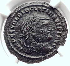DIOCLETIAN Authentic Ancient 295AD Follis Ancient Roman Coin GENIUS NGC i73296