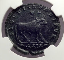 JULIAN II the Apostate 362AD Ancient Roman Coin BULL TAURUS Zodiac NGC i62467