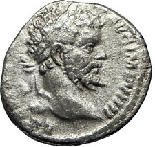 SEPTIMIUS SEVERUS  197AD Rome Silver Ancient Roman Coin LIBER Dionysos i69463
