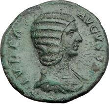 JULIA DOMNA Original 211AD Rome Authentic Ancient Roman Coin Hilaritas i64513