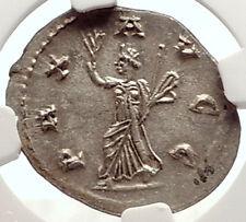 GALLIENUS Genuine Rare 257AD Rome Silver Authentic Ancient Roman Coin PAX i69331