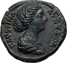 Faustina I wife of Marcus Aurelius Ancient Roman Coin DIANA LUNA Hope  i73680