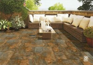 slate square garden pavers stones for
