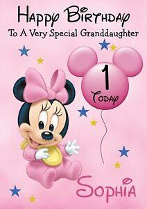 Minnie Mouse Birthday Card For Sale Ebay
