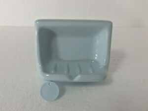 blue ceramic wall mounted bathroom soap