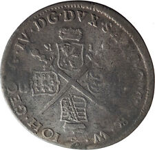 1693 Elector of Saxony JOHN GEORGE IV Silver 1/12 Taler German Coin i75162