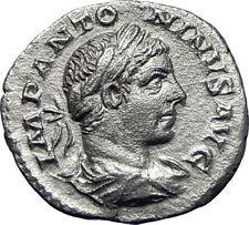 ELAGABALUS 218AD Authentic Ancient Silver Roman Coin Laetitia Happy i70084