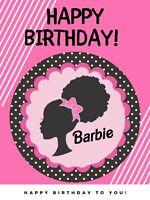barbie birthday invitation barbie