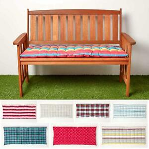 bench striped patio furniture seat pads