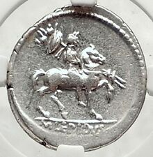 LEPIDUS as Moneyer Triumvir w/ Mark Antony Augustus Silver Roman Coin NGC i73334