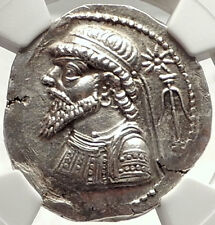 ELYMAIS King KAMNASKIRES V 54BC Authentic Ancient Tetradrachm Coin NGC MS i69802