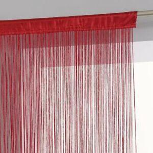 rideaux et voilages rouges en polyester