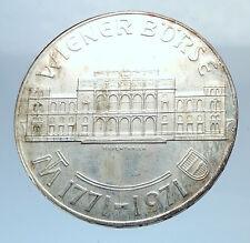 1956 AUSTRIA VIENNA WIENER BOURSE Stock Exchange Silver 25 Schilling Coin i72041