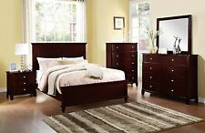 Particle Board Queen Bedroom Furniture Sets with 4 Pieces   eBay Dark Brown Bedroom Furniture Bed Dresser Mirror NS 4pc Set Stylish Boldly  Design
