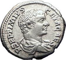 GETA as CAESAR 207AD Rome Authentic Ancient Silver Roman Coin Minerva i73401