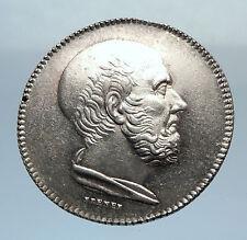 1800-1900  FRANCE Bordeaux Medicine Society Silver Medal w HIPPOCRATES i71747