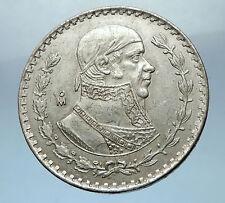 1962 Mexican Independence War HERO Jose Maria Morelos Peso Coin of Mexico i68238