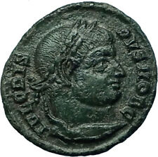 CRISPUS Ancient 321AD Authentic Original Roman Coin of Siscia w WREATH i66550