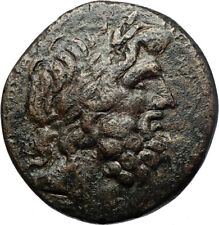 APAMEIA in PHRYGIA 88BC Authentic Ancient Greek Coin ZEUS ARTEMIS Statue i70478
