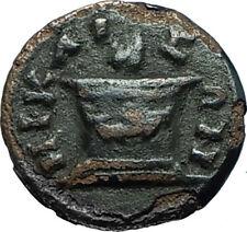CARACALLA 198AD Nicaea Bithynia Authentic Ancient Roman Coin w FIRE ALTAR i66347