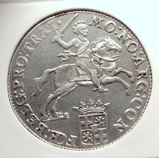 1786 NETHERLANDS Ultrecht Antique BIG 4.2cm Silver RIDER Knight Coin NGC i73302