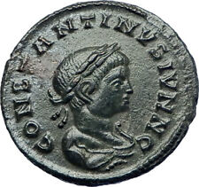CONSTANTINE II Constantine the Great son 321AD Ancient Roman Coin Altar i73454