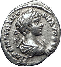 CARACALLA 198AD  Silver Authentic Genuine Ancient Roman Coin MONETA i70271