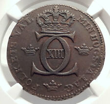 1812 SWEDEN King Charles ( Carl ) XIII   1 Skilling Swedish Coin NGC i71315