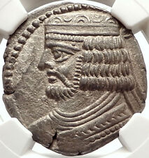 VARDANES II 55AD PARTHIA Tetradrachm Authentic Ancient Greek Coin NGC AU i67616