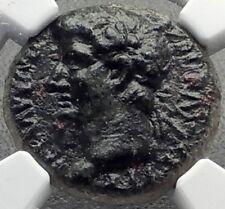 CLAUDIUS & DIVUS AGUSTUS Ancient Thessalonica Macedonia Roman Coin NGC i70175